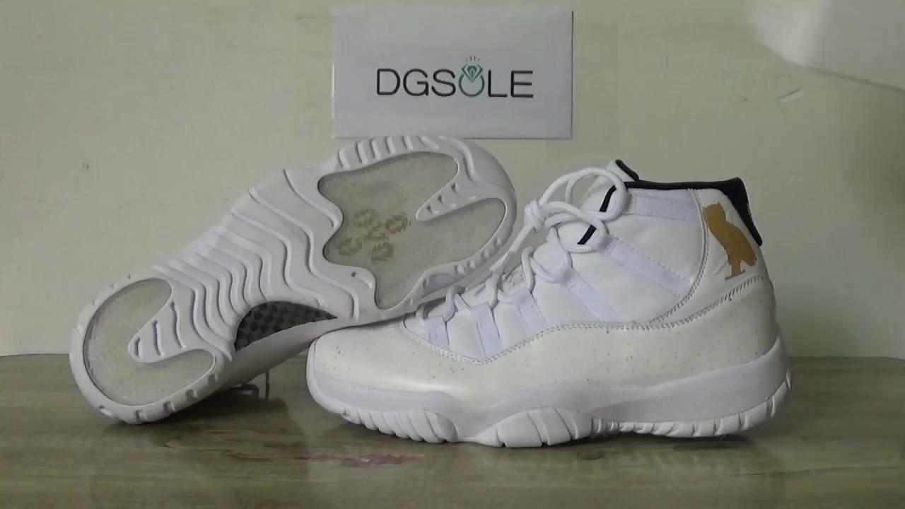 09164b788b543b Air Jordan 11 OVO Quick Review from Dgsole.cn - YouTube