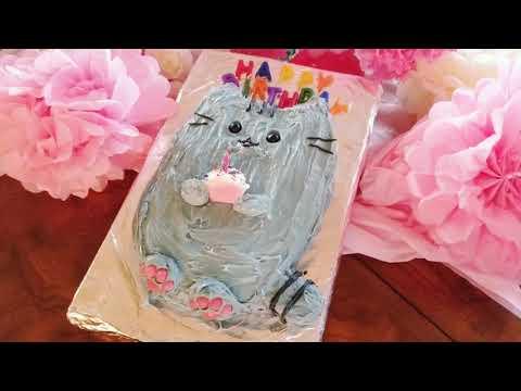 Pusheen Birthday Party: How To Make A Pusheen Cake