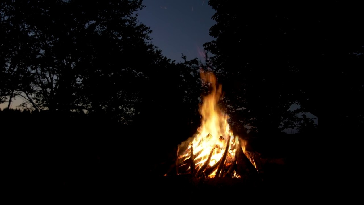 camping in the woods at night. Contemporary Woods Campfire U0026 Forest Night Sounds  Camping In The Woods With Owls And Other  Creatures Inside Woods At