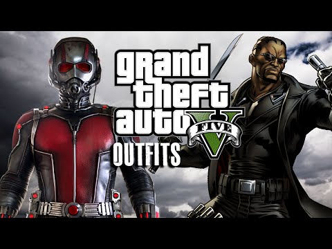 GTA 5 Online - Marvel And DC Outfits (Ant-Man Blade And Michael Morbius) - YouTube