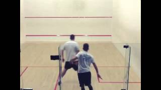 Tom Partington return from injury squash