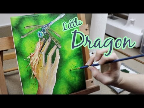 Little Dragon Painting || Oil Painting Time Lapse