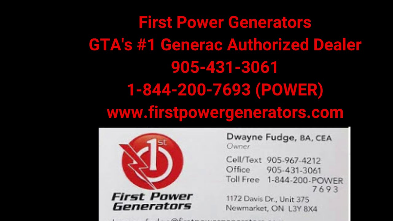 First Power Generators  - You Control Your Power - 905-967-4212