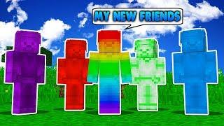 Minecraft Steve Saga - RAINBOW STEVES NEW FRIENDS