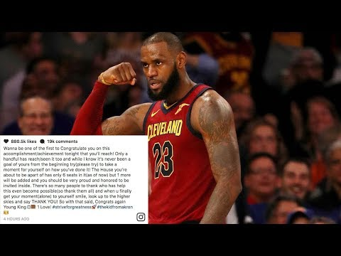 LeBron James Congratulates Himself for Breaking Record BEFORE He Breaks It