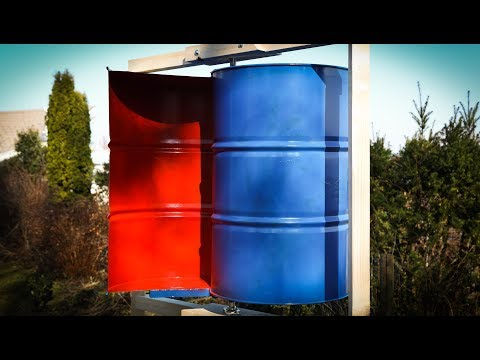 Home Built Wind Turbine VAWT - Savonius Rotor - Free Energy