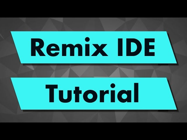 Solidity Tutorial: Remix IDE (new layout)