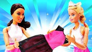 Барби и Тереза выбирают платья на Выпускной! Одежда и аксессуары для кукол. Мультики с куклами