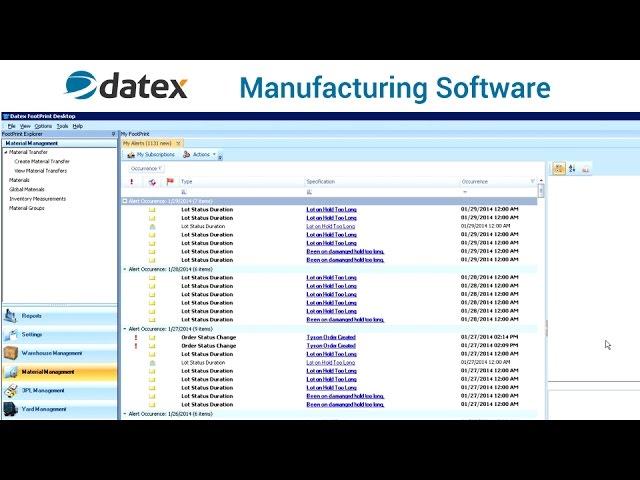 Datex Manufacturing Software