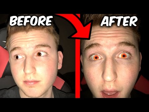 MAKE YOUR EYE COLOR ORANGE FOR 5 MINUTES TRICK! (Wtf it actu