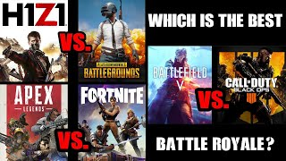 Which Is The Best Battle Royale? Firestorm Apex Legends Blackout H1Z1 Fortnite PUBG (PS4 Xbox One)