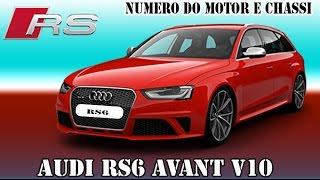 AUDI R6 V10 - NUMERO DO CHASSI E MOTOR