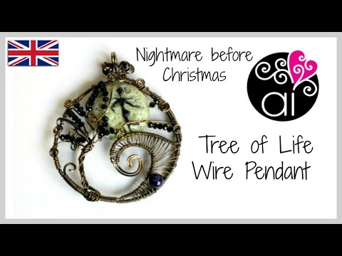 The Nightmare Before Christmas | Wire Wrapping Tutorial | Tree of Life | Polymer Clay Moon Tutorial
