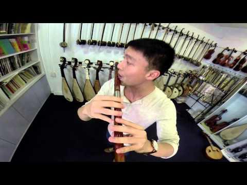 Dizi Demo - Yue Liang Dai Biao Wo De Xin (Using Gopro)