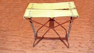 Раскладной походный стул своими руками. Folding camping chair with your hands(Ссылка на чертеж: https://ru.files.fm/u/c2amezz3 В этом видео я покажу и расскажу как быстро можно сделать раскладной..., 2016-09-16T17:13:11.000Z)