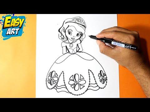 Como Dibujar la Princesita Sofia l How to Draw the Princess Sofia ...