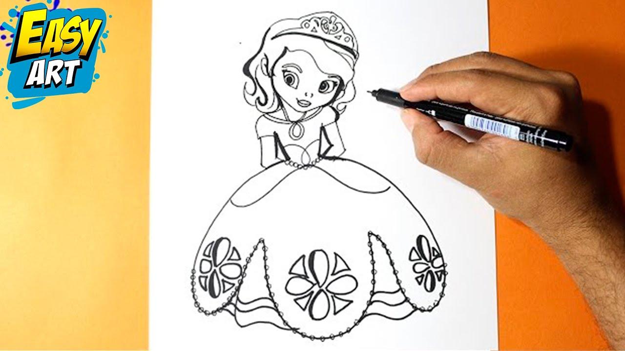Como Dibujar La Princesita Sofia L How To Draw The Princess Sofia Como Dibujar Una Princesa Youtube