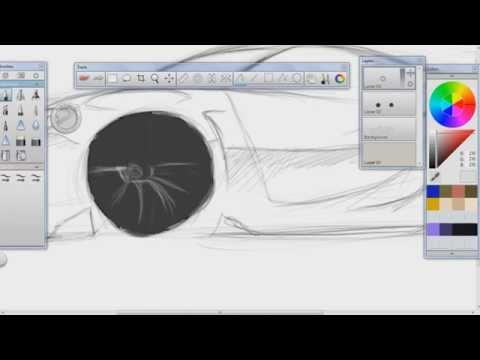 Speed Art - Porsche Cayman RS in SketchBook Pro