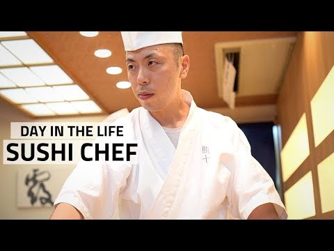A Day In The Life Of A Japanese Sushi Chef - Tokyo, Japan