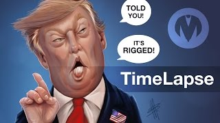 Donald Trump - 45th President USA - Caricature Just a quicker version of my earlier real-time video/post, a time-lapse caricature with sound. Audio used: Venice Beach - Topher Mohr and Alex Elena [POP ..., From YouTubeVideos
