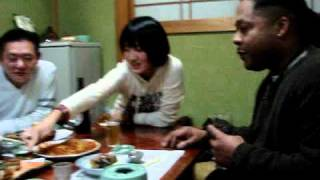 A Black brother with the Japanese Osaka family