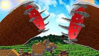 SPAWNING THE UNKILLABLE MINECRAFT BOSS INSIDE THE GIANT SANDWORM!!