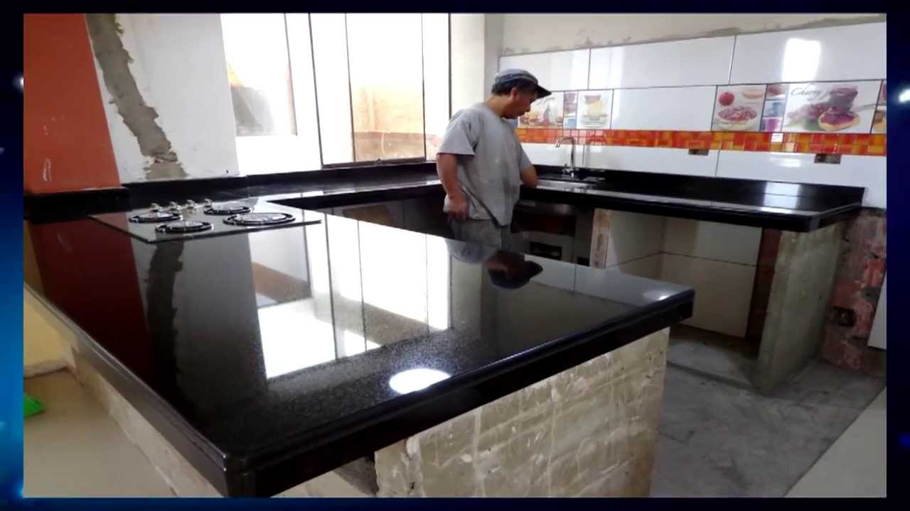 Tableros encimeras cocina granito marmol lima youtube - Cocinas de marmol ...