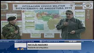 Nicolás Maduro: Tenemos la razón y la fuerza física y moral para hacer la revolución militar