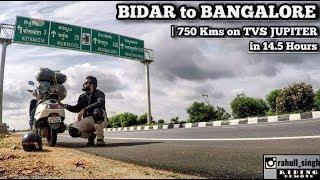 BIDAR to BANGALORE on TVS JUPITER | 750 Kms in 14.5 Hours