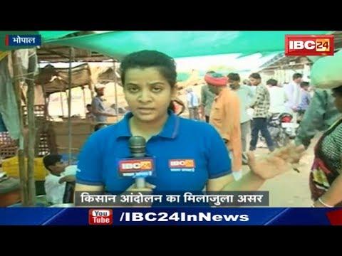Bhopal News MP: किसान आंदोलन का मिलाजुला असर | दलाल फायदा उठाकर बढ़ा रहे सब्जियों के दाम