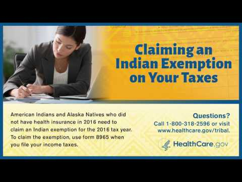 Filing Your 2016 Indian Health Insurance Tax Exemption