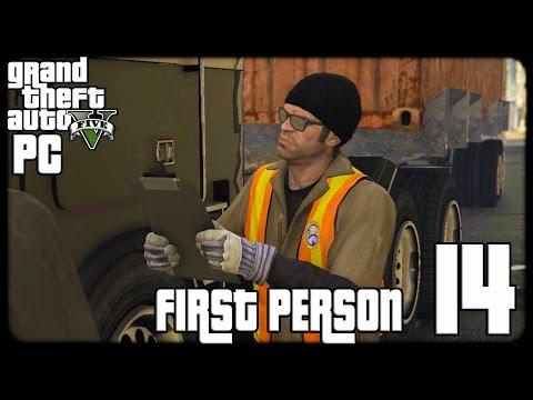 GTA V PC First Person 1080p60 w/Facecam WT #14 - تختيم حرامي السيارات الخامس - الميناء