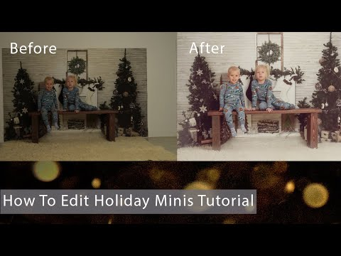 How To Edit Holiday Christmas Mini Sessions Photos In Photoshop Tutorial thumbnail
