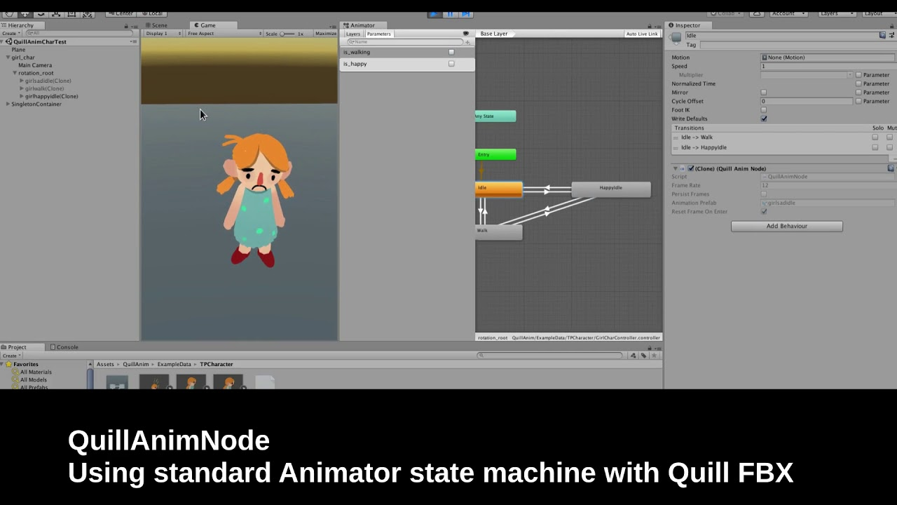 Quill FBX Animation Pipeline for Unity