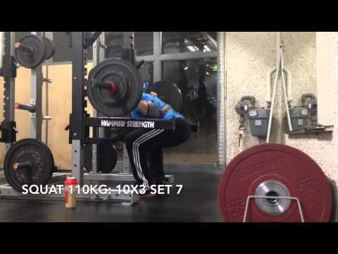 Squat 110kg 10x3 @bw81 27.12.2014
