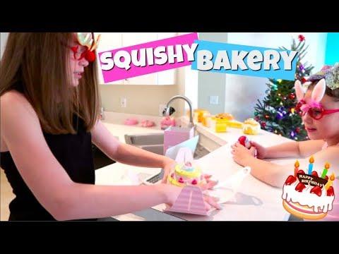 SQUISHY CAKE BAKERY SKIT! BIRTHDAY GIRL PICKS HER CAKE!