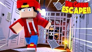Minecraft THE GREAT ESCAPE - ESCAPING FROM MINECRAFT SCHOOL!!