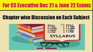 CS Executive Syllabus for 2021 | For December 2021 Exams & June 2022 Exams | #CSEXECUTIVE