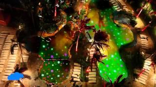 "Pool projection Holiday show ""Mele Kalikimaka"" for Sheraton Waikiki Beach Hawaii"