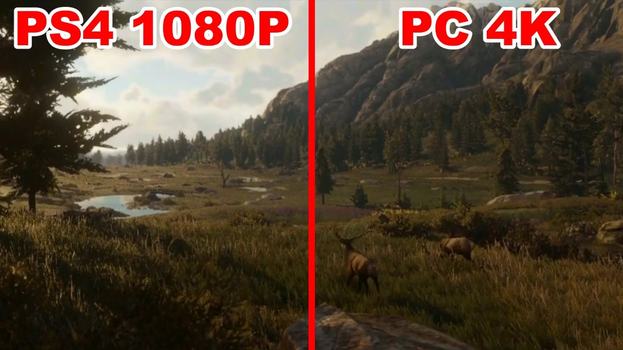 Red Dead Redemption 2 Trailer - PS4 vs. PC Graphics ...  Red Dead Redemp...