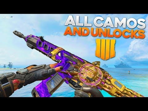 Black Ops 4 ALL CAMOS, Emotes, Sprays, & Weapon Inspections! (Singularity Camo)