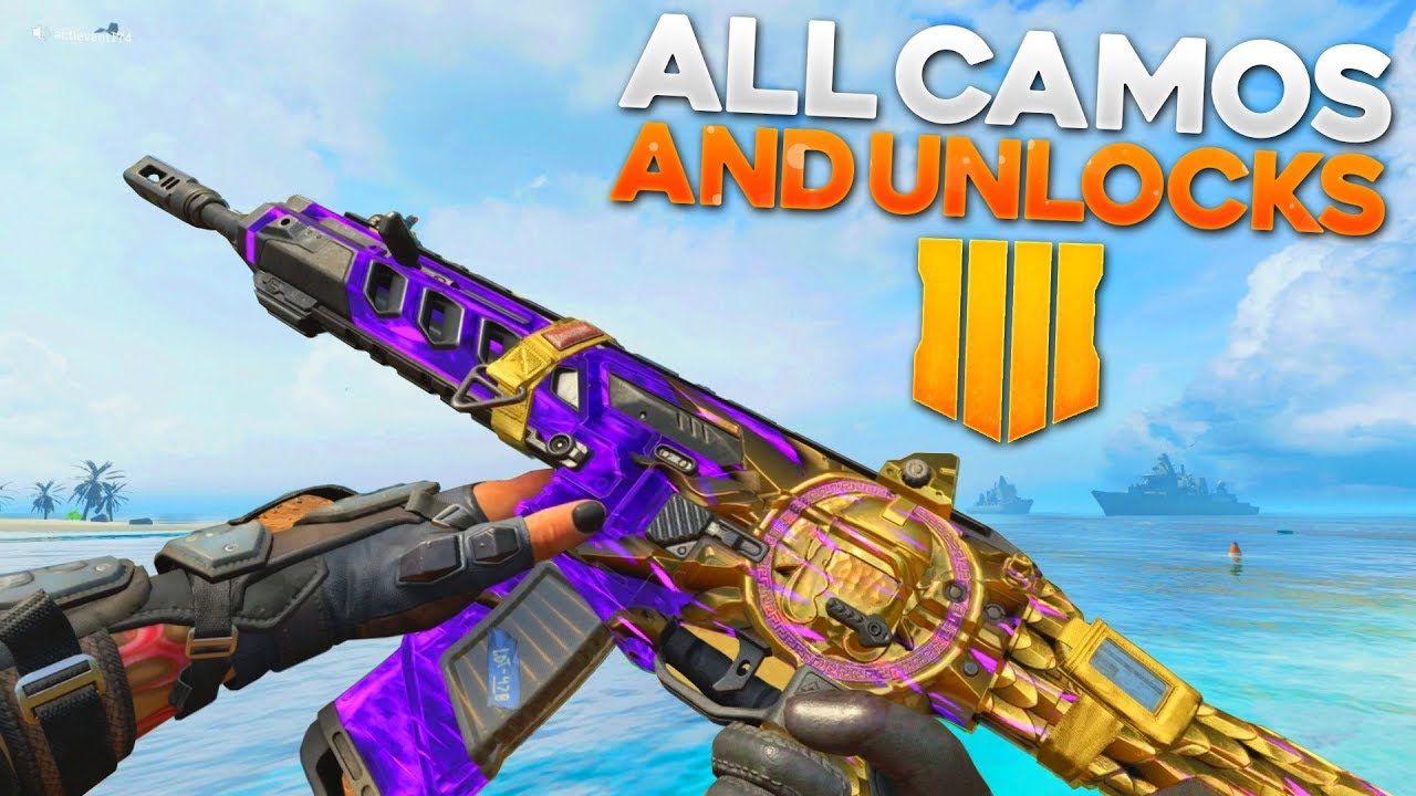 Call of Duty Black Ops 4 All Emotes, Sprays and Weapon Camos