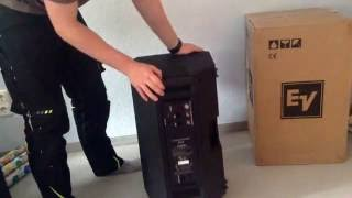 EV ZLX 12p Electro Voice Unboxing Deutsch