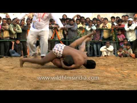 Akhara is venue for Indian kushti or mud wrestling