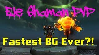 Elemental Shaman PvP   Legion Patch 7.2   Fastest BG ever?!   World of Warcraft