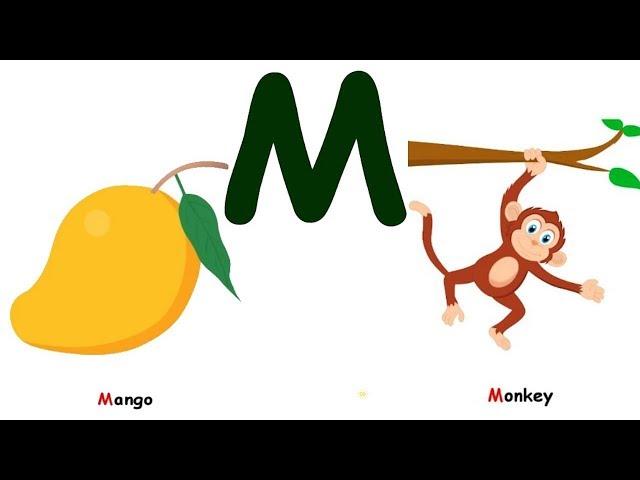 لعبة الحروف |  تعليم الحروف الانجليزية للأطفال | حرف M - تعليم الاطفال- Kids Learn ABC