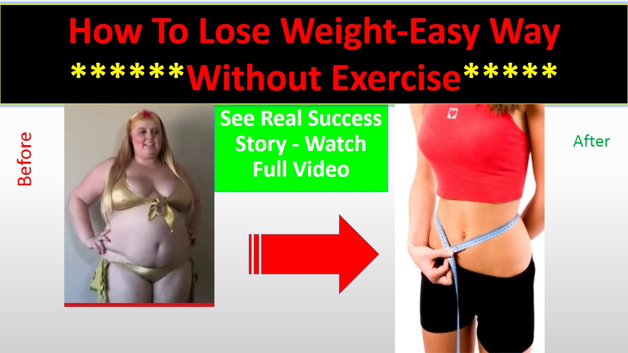 weight loss without exercise fast track
