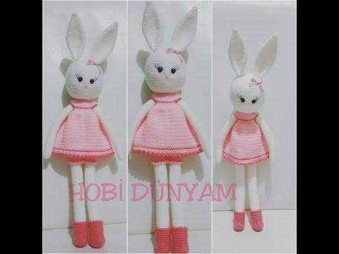 (Amigurumi ) Örgü Oyuncak Büyük Tavşan Yapımı 1 (Crochet Amigurumi Big Rabbit 1)