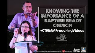 Gambar cover Knowing the Importance of a Rapture-Ready Church | Ps. Ruth Cubos