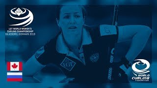 Canada v Russia - round robin - LGT World Women's Curling Championships 2019